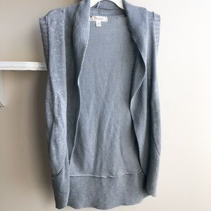Long gray sweater vest